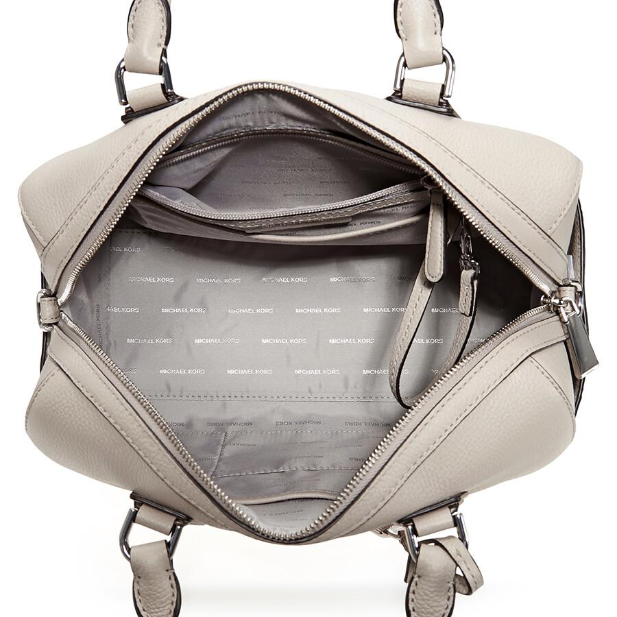 8441e63159f8 Michael Kors Mercer Pebbled Leather Duffle Bag - Cement - Michael ...