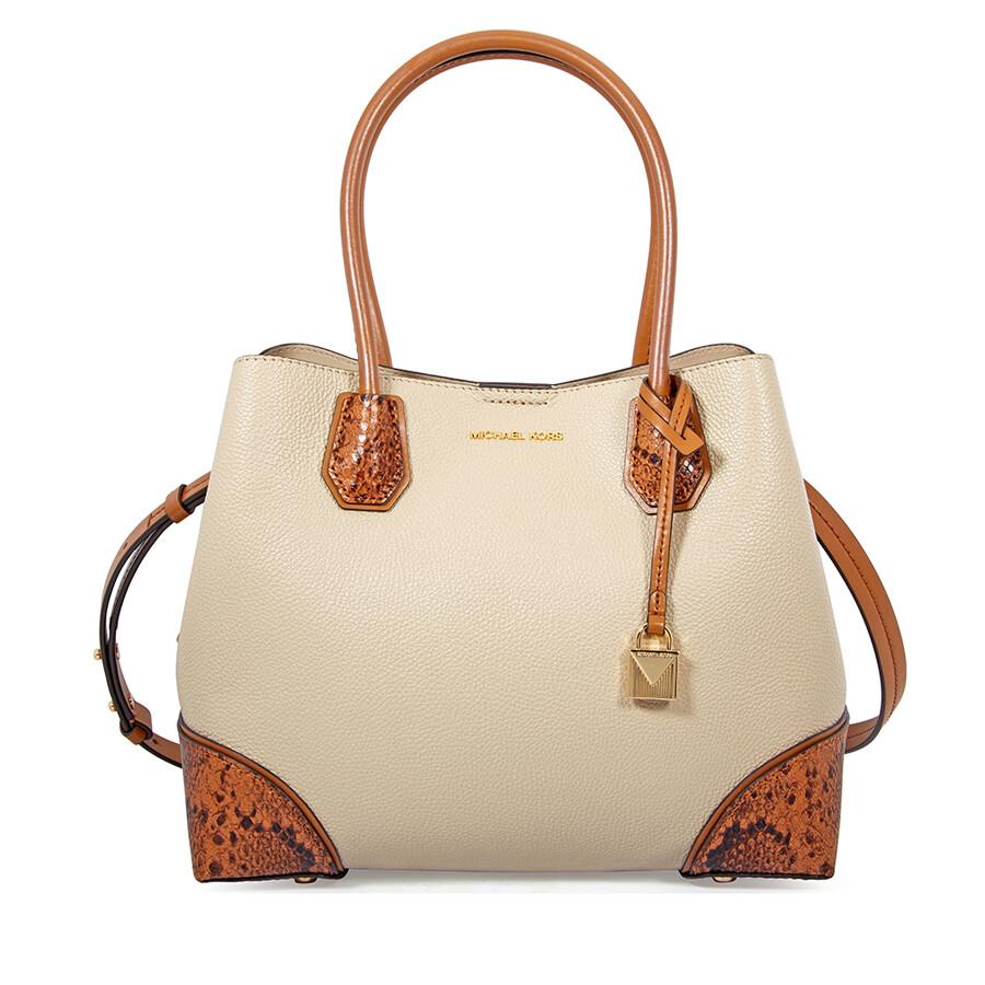 5888641e2f8e Michael Kors Mercer Gallery Pebbled Leather Shoulder Bag - Oat Item No.  30F8GZ5T6T-160