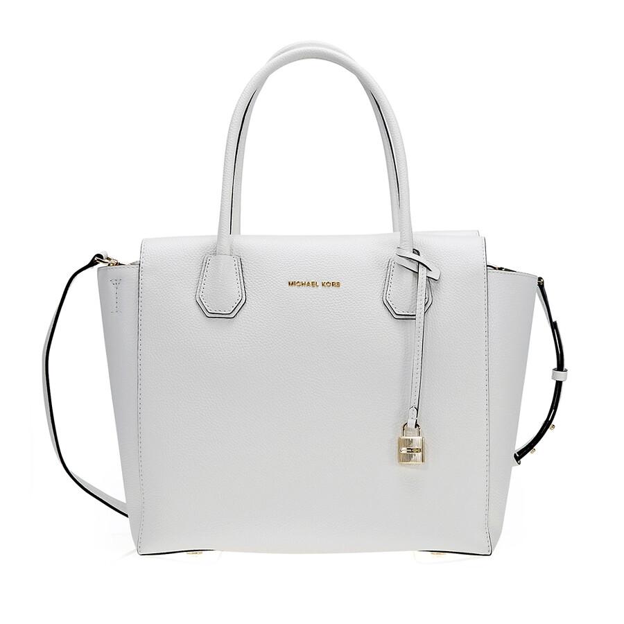 f880324eafd2 Michael Kors Mercer Satchel- Optic White - Michael Kors Handbags ...