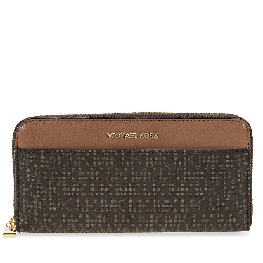 a3d400decb76 Michael Kors Mercer Signature Logo Wallet - Brown Item No. MK32S7GM9E9B-200