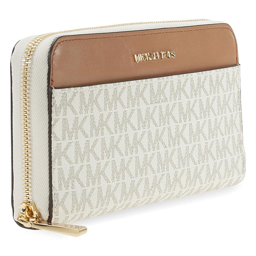 eeac426a60c9eb Michael Kors Mercer Signature Logo Wallet - Vanilla - Mercer ...