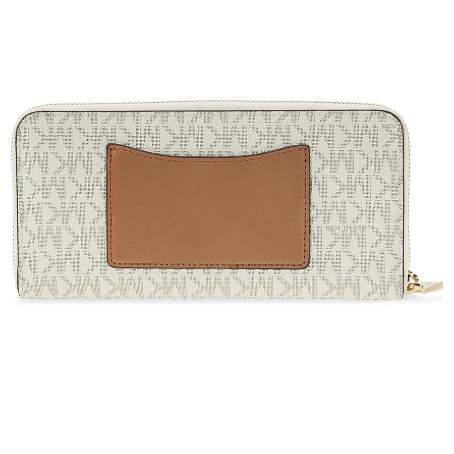 164ec183e2b5 Michael Kors Mercer Signature Logo Wallet - Vanilla - Mercer ...