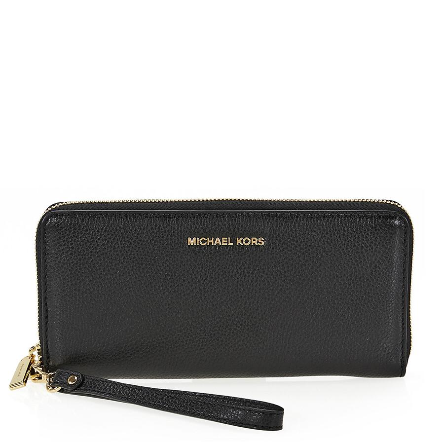 2b3cc4f76578 Michael Kors Mercer Travel Continental Wallet - Black Item No.  32F6GM9E9L-001