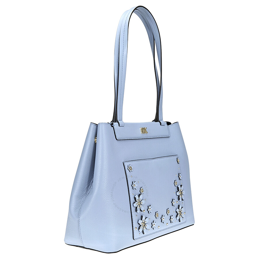 eacedd15c590 Michael Kors Meredith Medium East West Bonded Tote- Pale Blue ...