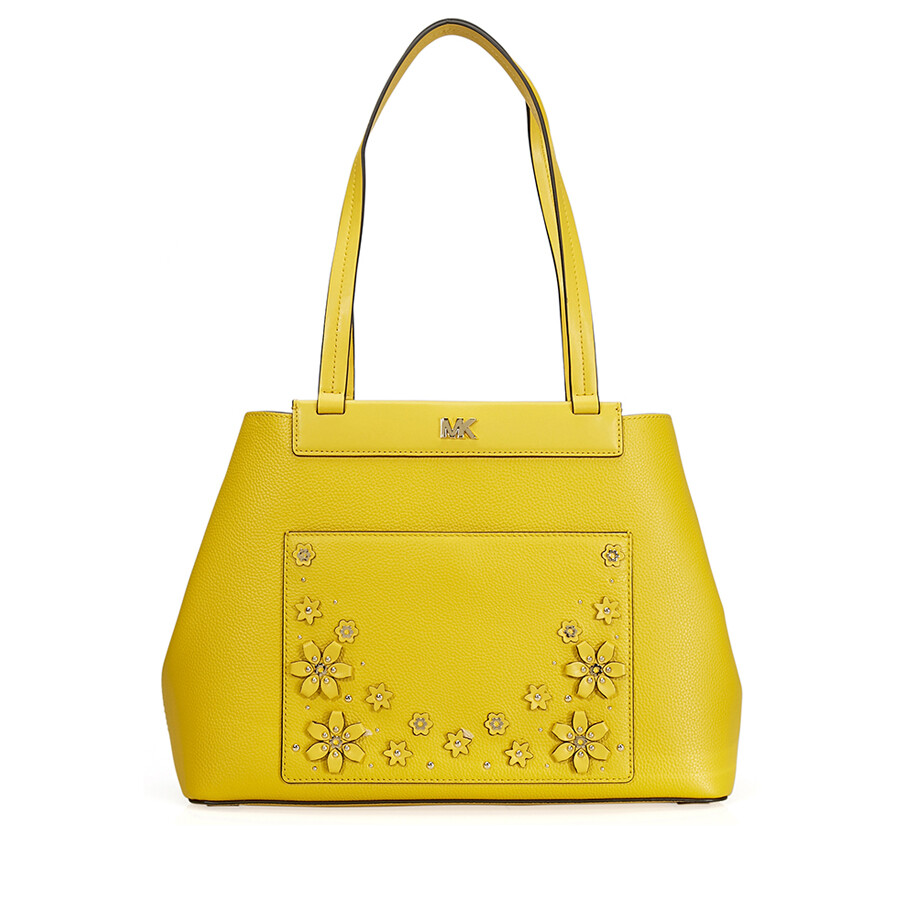 506132195599c6 Michael Kors Meredith Medium East West Bonded Tote- Sunflower Item No.  30T8GKWT8Y-719
