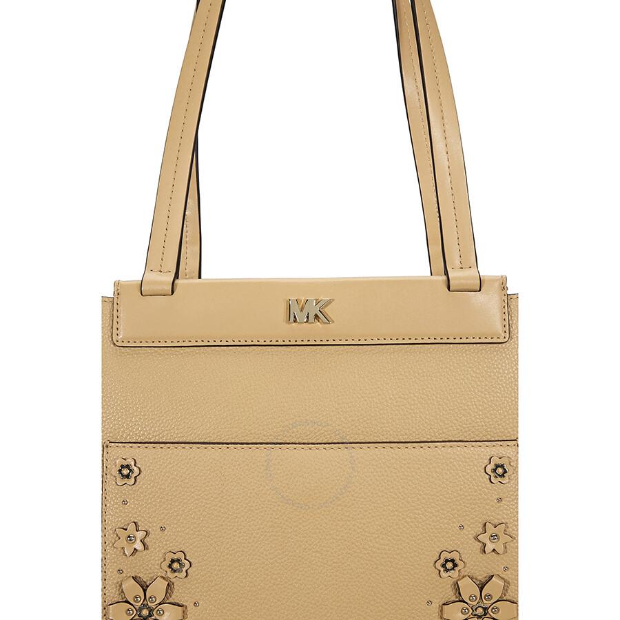 Michael Kors Meredith Medium Leather Tote Bag Purse Butternut 30t8tkwt8y