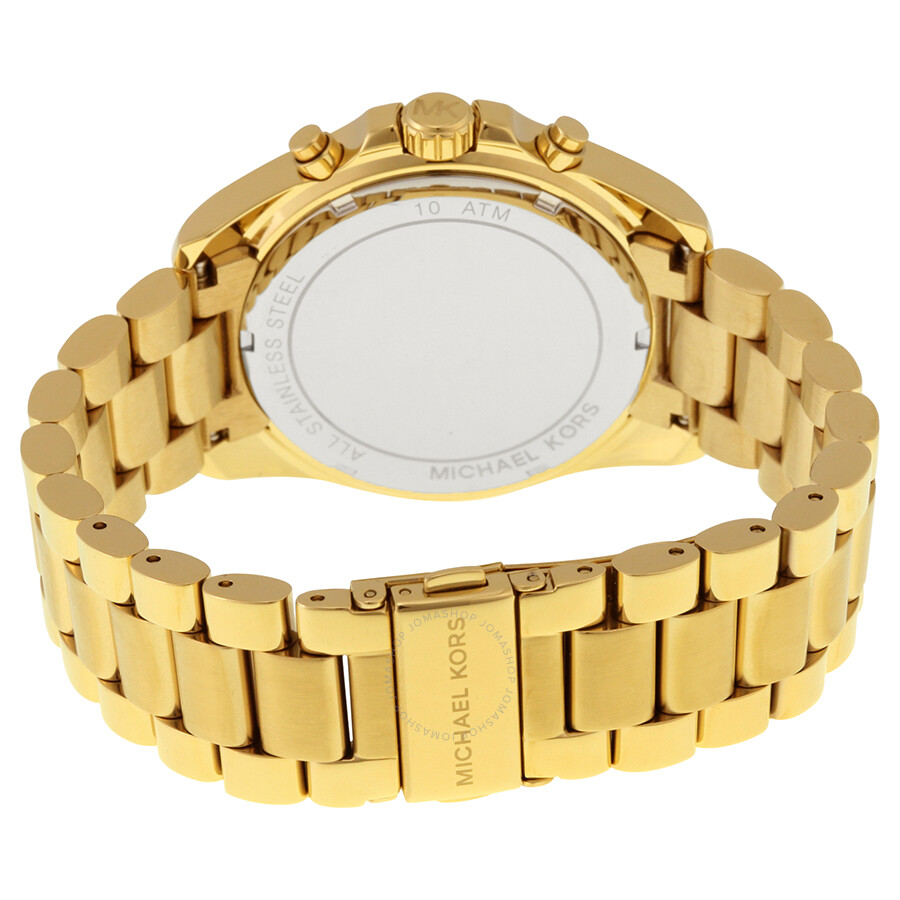 c242edbf2 ... Michael Kors Mid-Size Bradshaw Chronograph Black Dial Gold-tone Ladies Watch  MK5739 ...