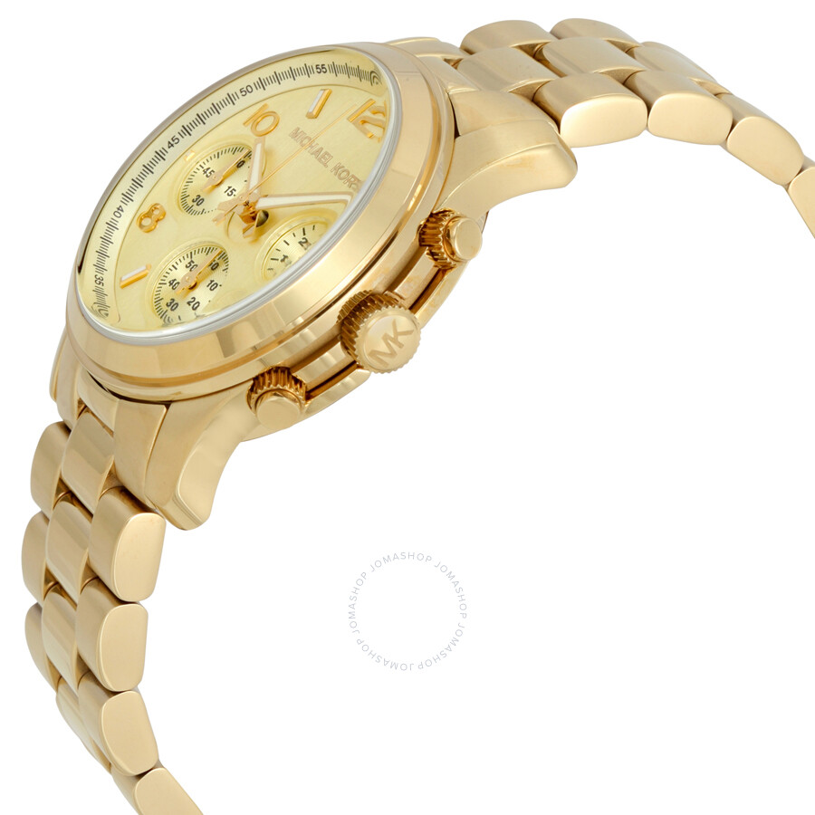 fbf583cc148a ... Michael Kors Midsized Chronograph Gold-tone Unisex Watch MK5055 ...
