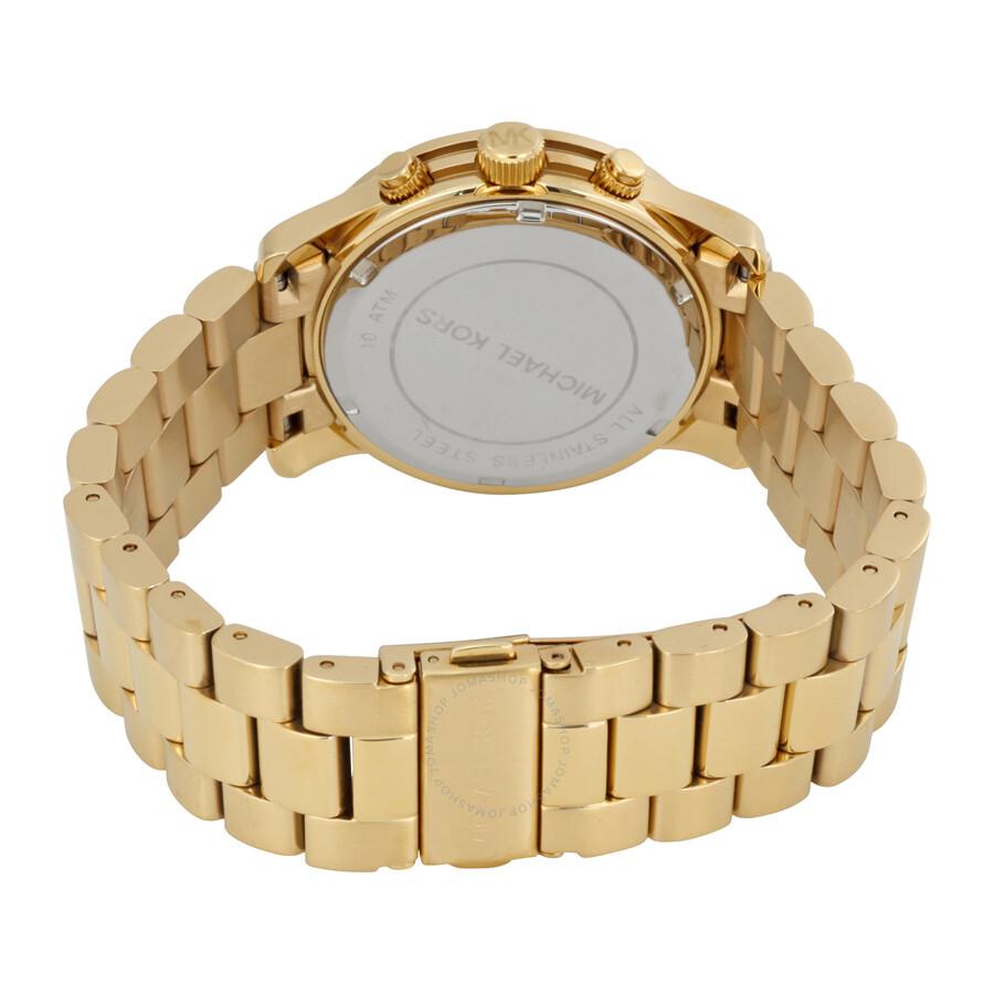 60ac9cc65c33 ... Michael Kors Midsized Chronograph Gold-tone Unisex Watch MK5055 ...