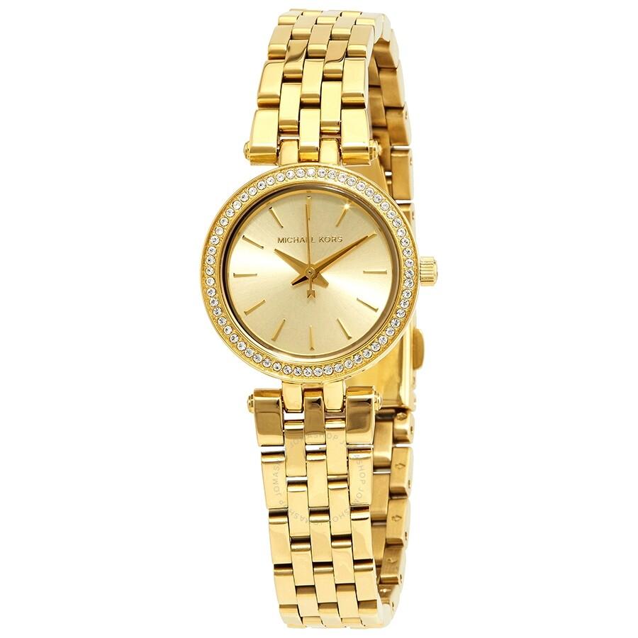 40f16f534e3a Michael Kors Mini Darci Champagne Dial Gold-tone Ladies Watch MK3295 ...