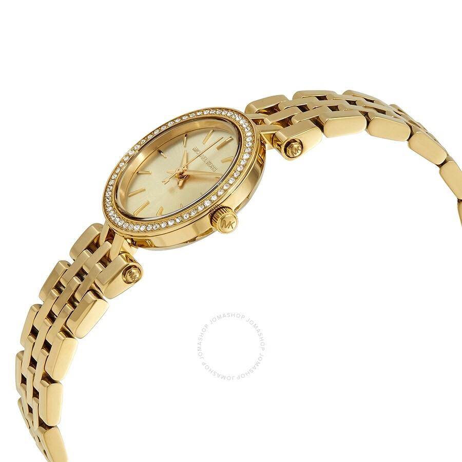 0abbbda13258 ... Michael Kors Mini Darci Champagne Dial Gold-tone Ladies Watch MK3295 ...