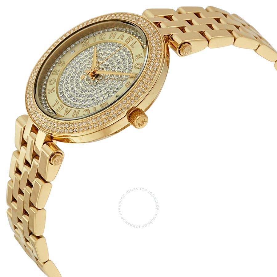518d8e5da89f ... Michael Kors Mini Darci Gold Crystal Pave Dial Ladies Watch MK3445 ...