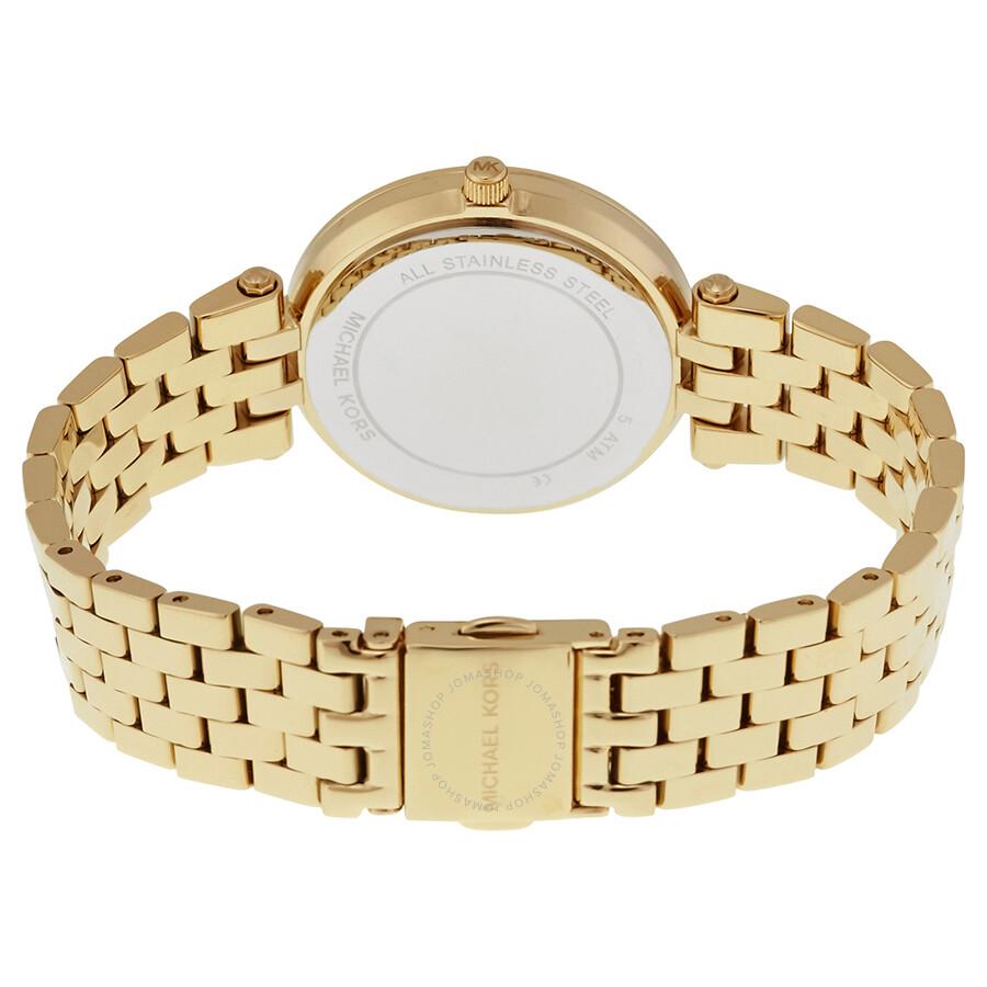 49ea46963295 Michael Kors Mini Darci Gold Crystal Pave Dial Ladies Watch MK3445 ...