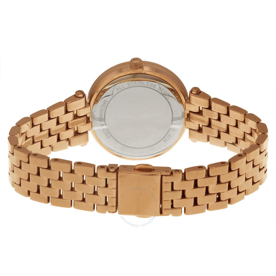 4ff21573298d ... Michael Kors Mini Darci Rose Gold Tone Dial Steel Ladies Watch MK3366  ...