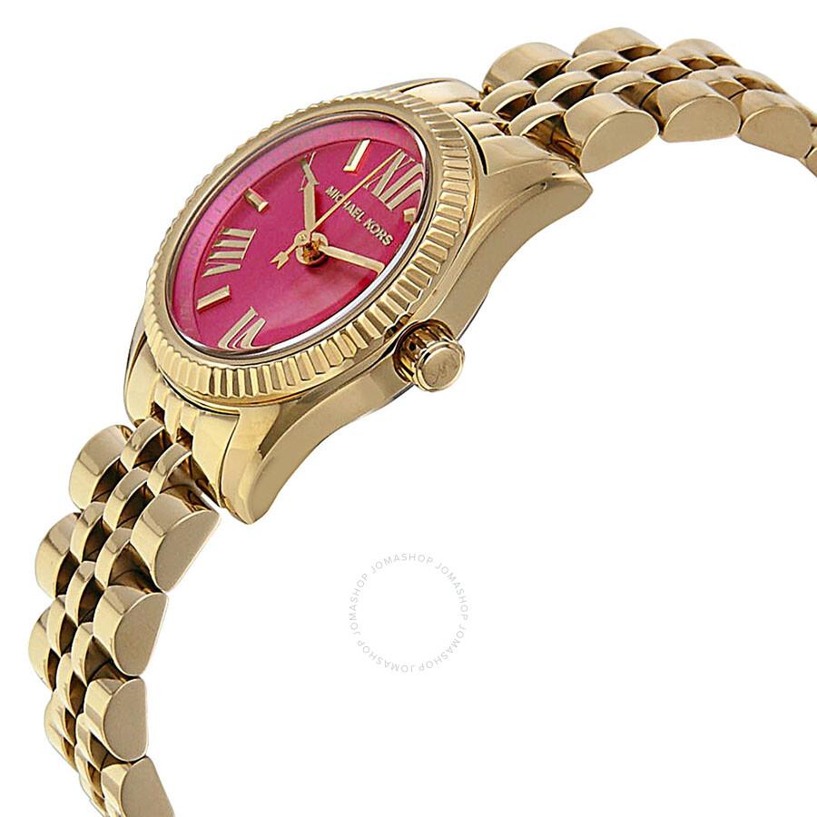 4894a021b495 ... Michael Kors Mini Lexington Pink Dial Gold-tone Ladies Watch MK3270 ...