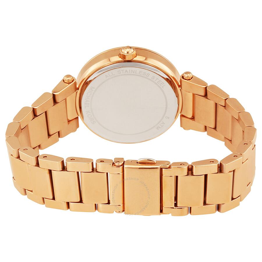 0dd1a9260 ... Michael Kors Mini Parker Rose Gold-tone Floral Cutout Dial Ladies Watch  MK6470