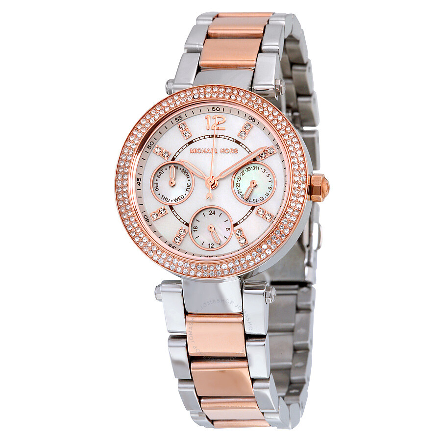 michael kors mini silver gmt two tone