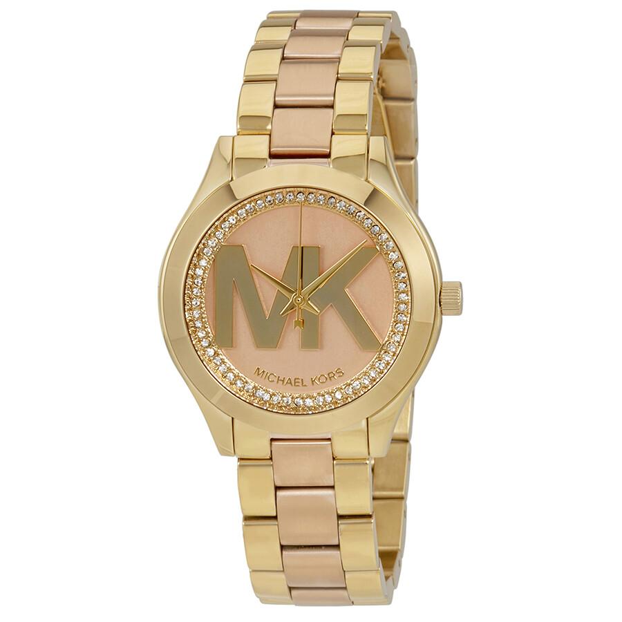 0ff4b8c5c311 Michael Kors Mini Slim Runway Rose Gold-tone Dial Ladies Watch MK3650 ...