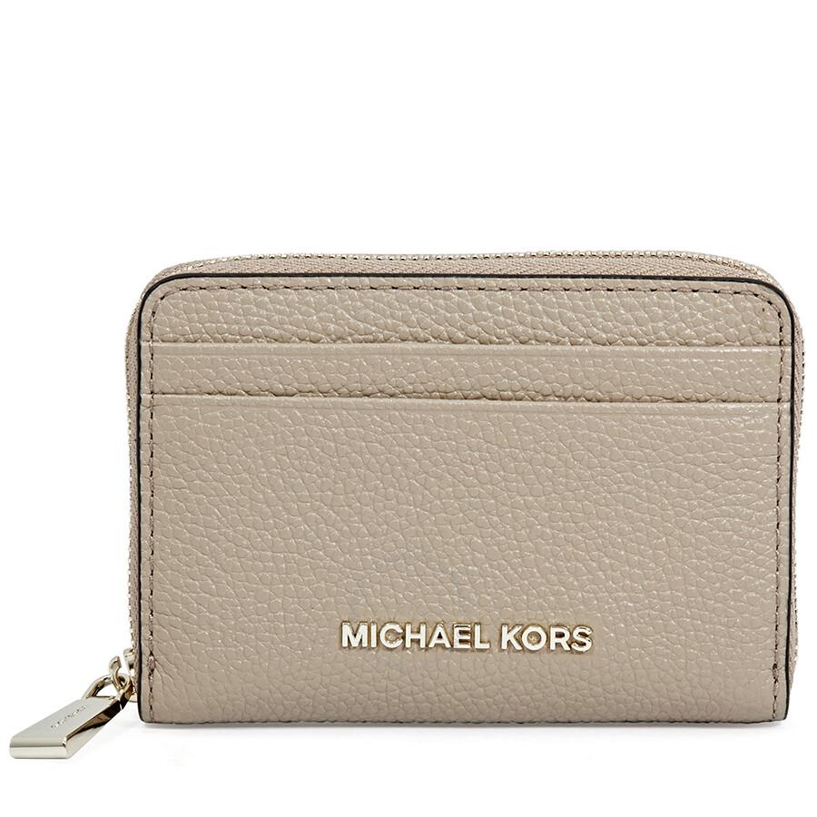 15463c0cb3c4 Michael Kors Money Pieces Leather Card Case- Truffle Item No. 32T8TF6Z1L-208