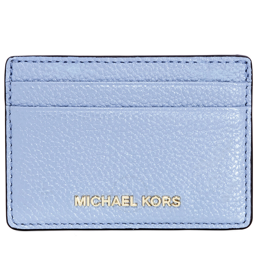 00b04b058f53 Michael Kors Money Pieces Leather Card Holder- Pale Blue - Michael ...