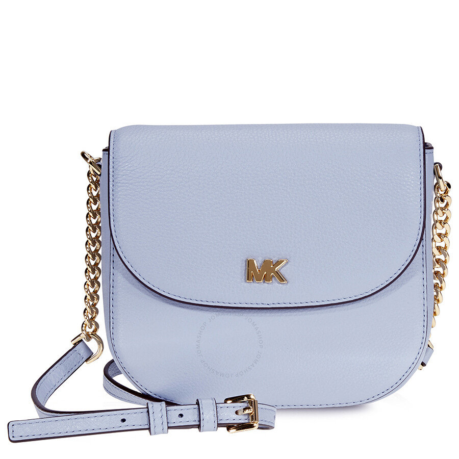 79424dde7d5a Michael Kors Mott Crossbody Bag- Pale Blue - Michael Kors Handbags ...