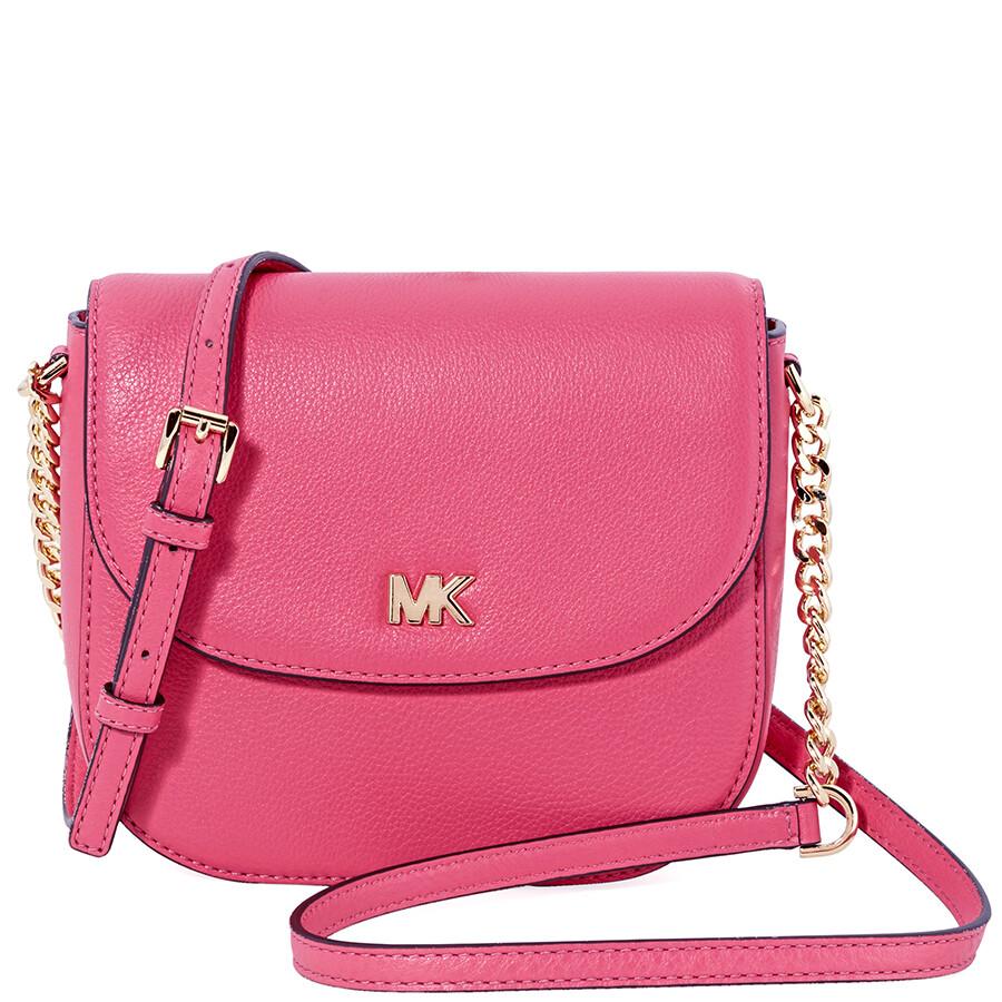 d8796f5c4e7c Michael Kors Mott Crossbody Bag- Rose Pink - Michael Kors Handbags ...