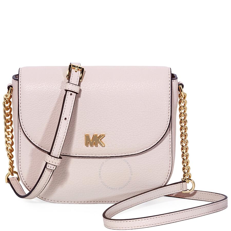 7d196e5cf Michael Kors Mott Crossbody Bag- Soft Pink - Michael Kors Handbags ...