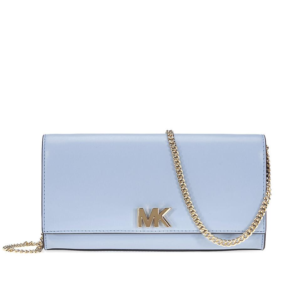 85638760addb Michael Kors Mott Large Chain Wallet- Pale Blue Item No. 30S8GOXC7L-487