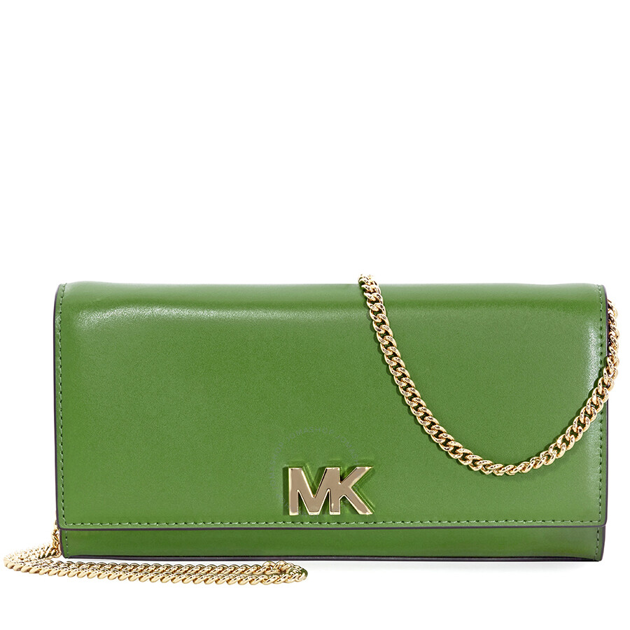 230c6d9606d9 Michael Kors Mott Large Chain Wallet- True Green Item No. 30S8GOXC7L-304
