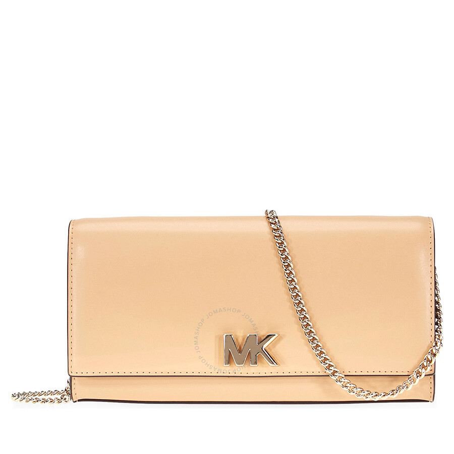 ac7bb8a5b7a5 Michael Kors Mott Large Smooth Leather Chain Wallet- Butternut Item No.  30T8TOXC3L-106