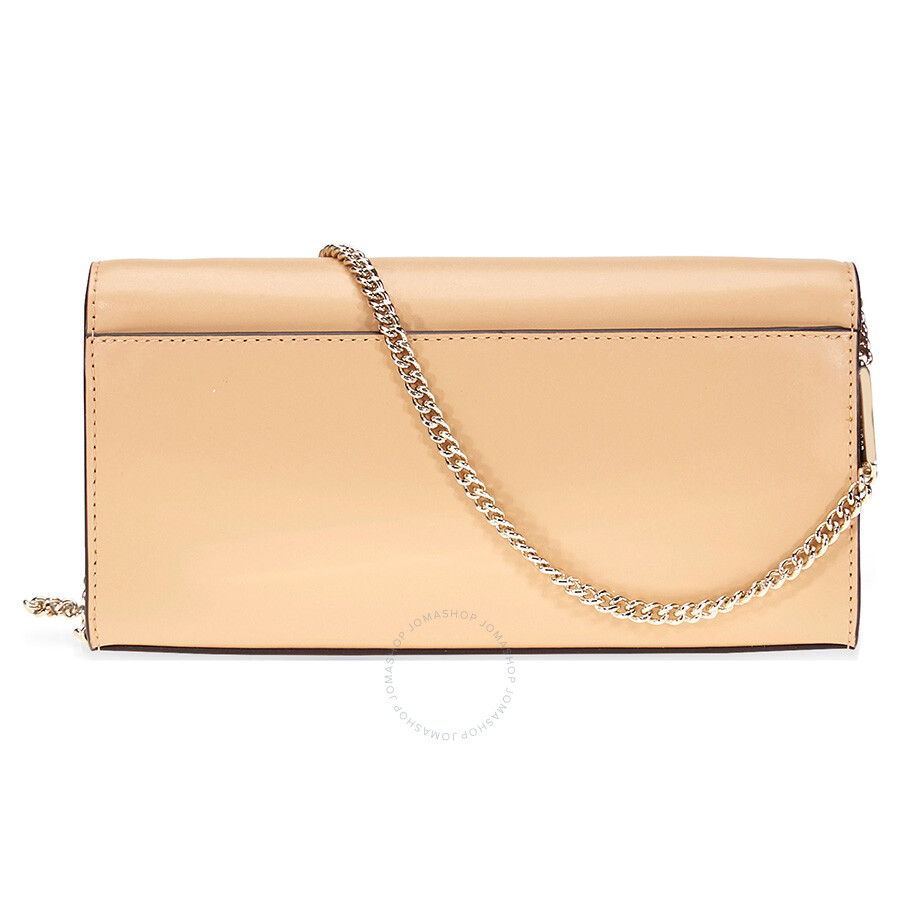 582f5bc70886 Michael Kors Mott Large Smooth Leather Chain Wallet- Butternut ...