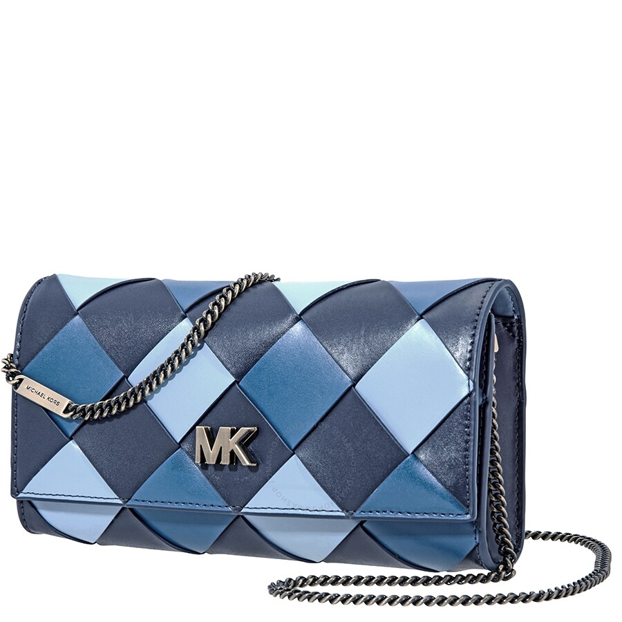 e0be3cd17fa Michael Kors Mott Large Woven East West Clutch- Admiral/Multi Item No.  30H8BOXC3T-443