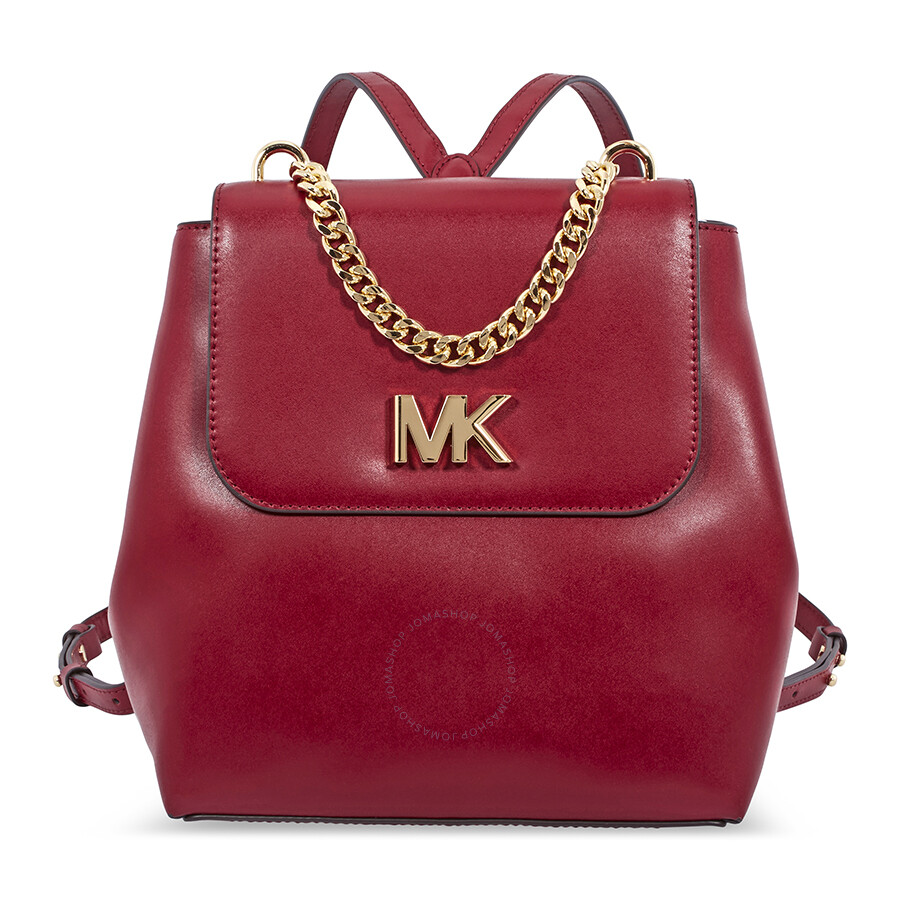 c1d5ccf57d78 Michael Kors Mott Leather Backpack- Maroon - Michael Kors Handbags ...