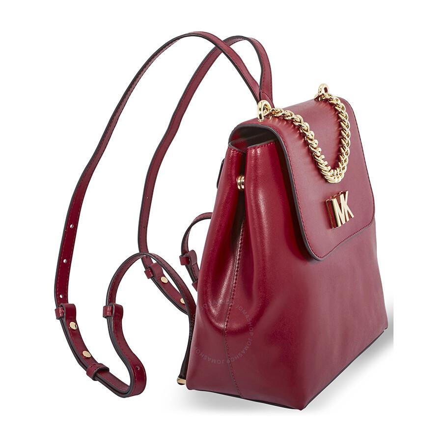 4a68e0d55840 Michael Kors Mott Leather Backpack- Maroon - Michael Kors Handbags ...