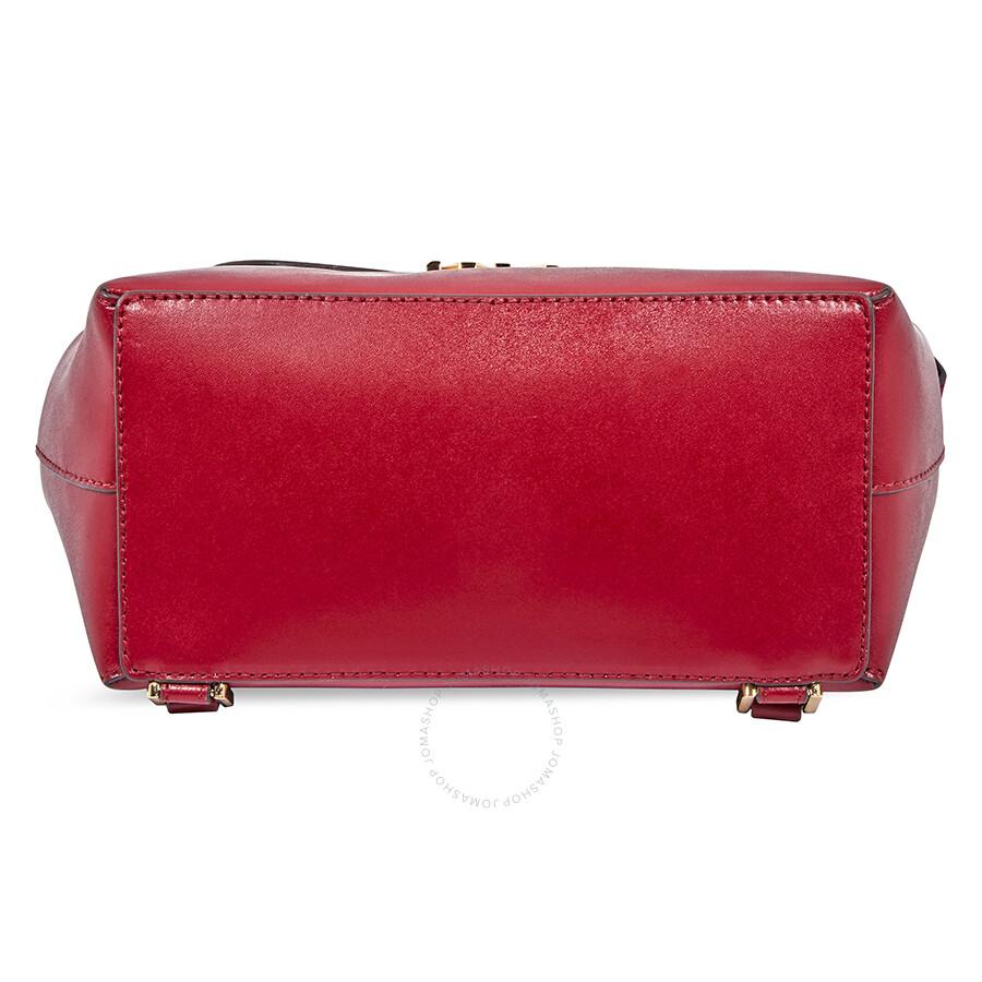 6838bbc48e4 Michael Kors Mott Leather Backpack- Maroon - Michael Kors Handbags ...