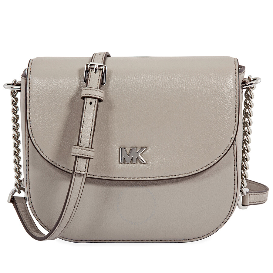 1ef0b122e705 Michael Kors Mott Leather Crossbody - Pearl Grey Item No. 32S8SF5C0L-081