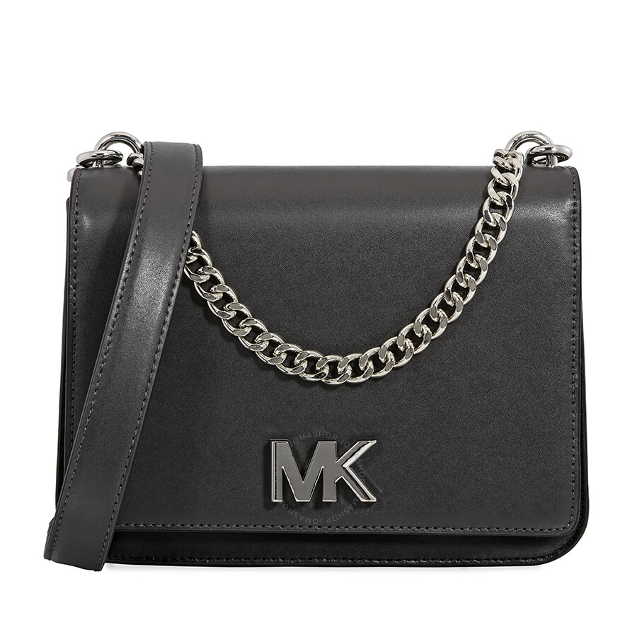 8afe98d4f341 Michael Kors Mott Leather Crossbody- Black - Michael Kors Handbags ...