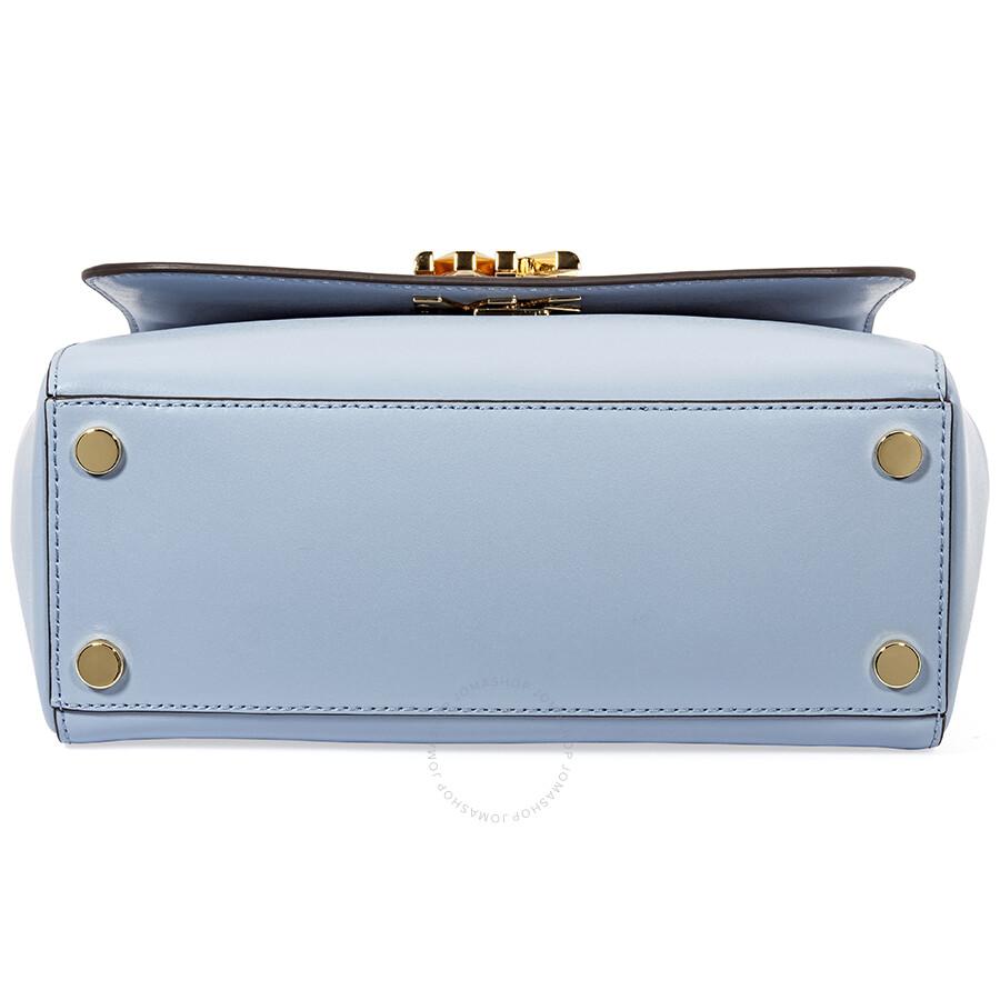 b27849a0f2f98b Michael Kors Mott Medium Leather Satchel- Pale Blue - Michael Kors ...