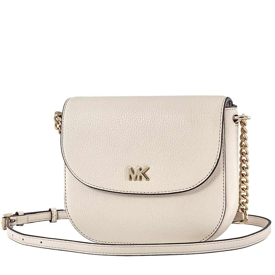 1ad778b1dcd4 Michael Kors Mott Pebbled Leather Crossbody- LT Cream Item No.  32T8TF5C0L-289