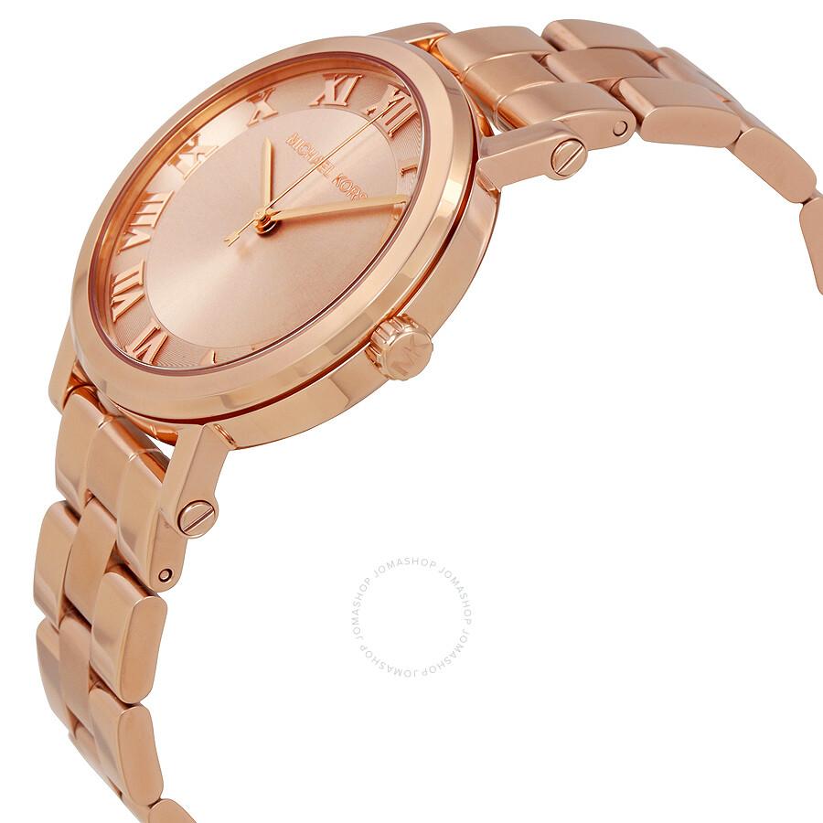 6aaaade7313e Michael Kors Norie Ladies Rose Gold Watch MK3561 - Michael Kors ...