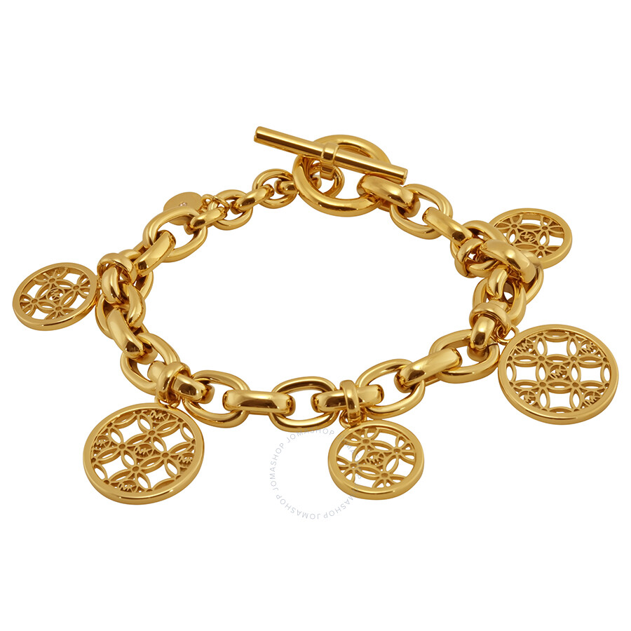 michael kors open monogram disc charm bracelet michael kors ladies jewelry jewelry jomashop. Black Bedroom Furniture Sets. Home Design Ideas