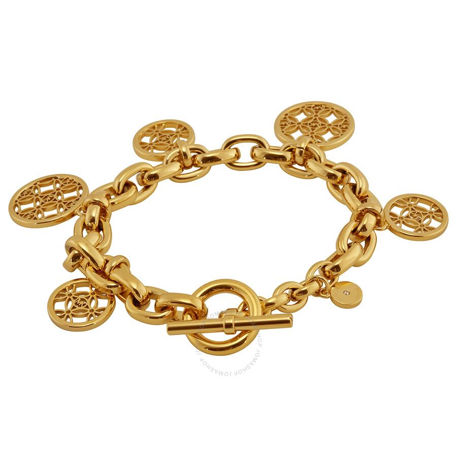 Michael Kors Open Monogram Disc Charm Bracelet