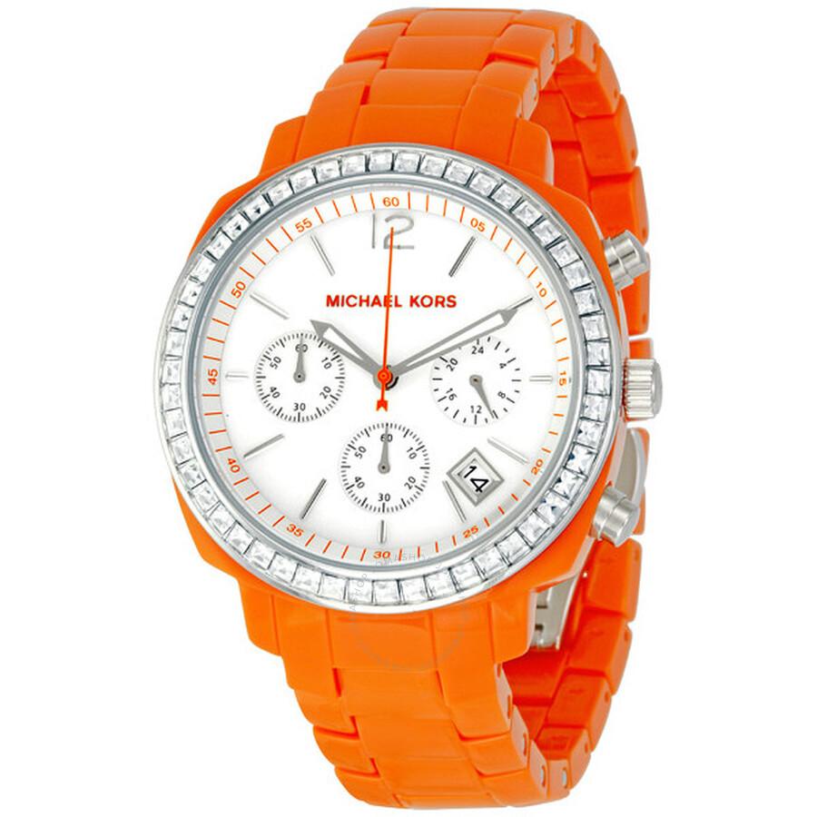 1548814082b1 Michael Kors Orange Chronograph Ladies Watch MK5119 - Michael Kors ...