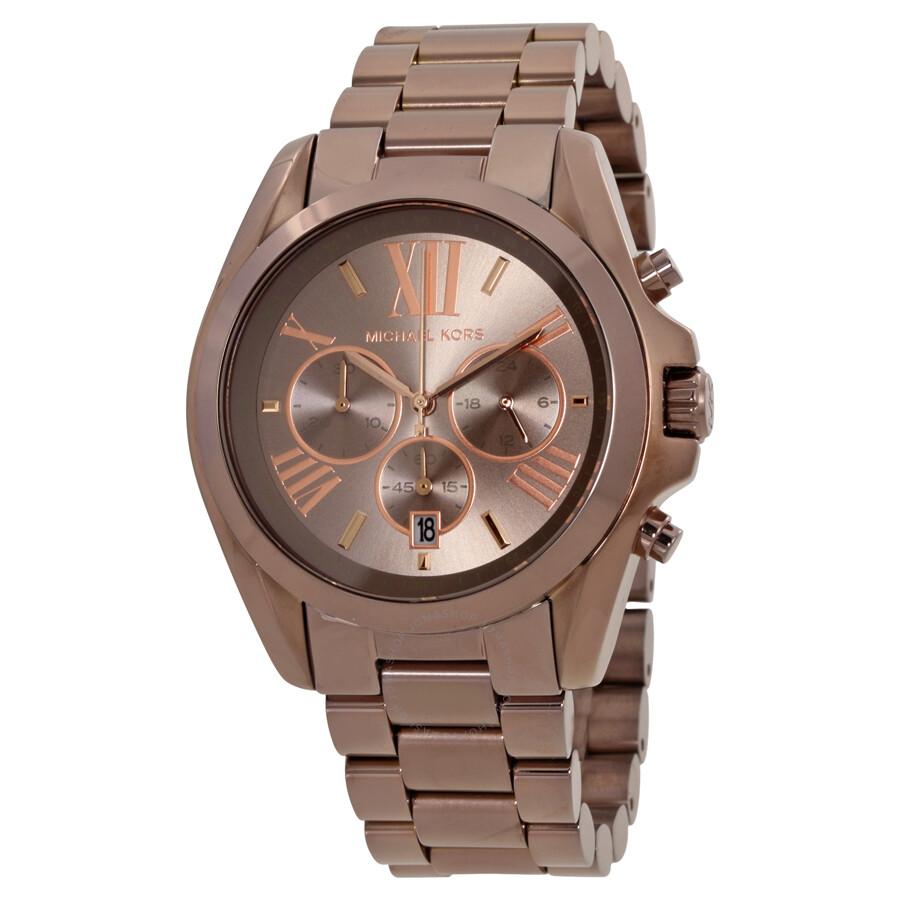 2ee648a7143d Michael Kors Oversized Bradshaw Chronograph Sable Dial Watch MK6247 ...