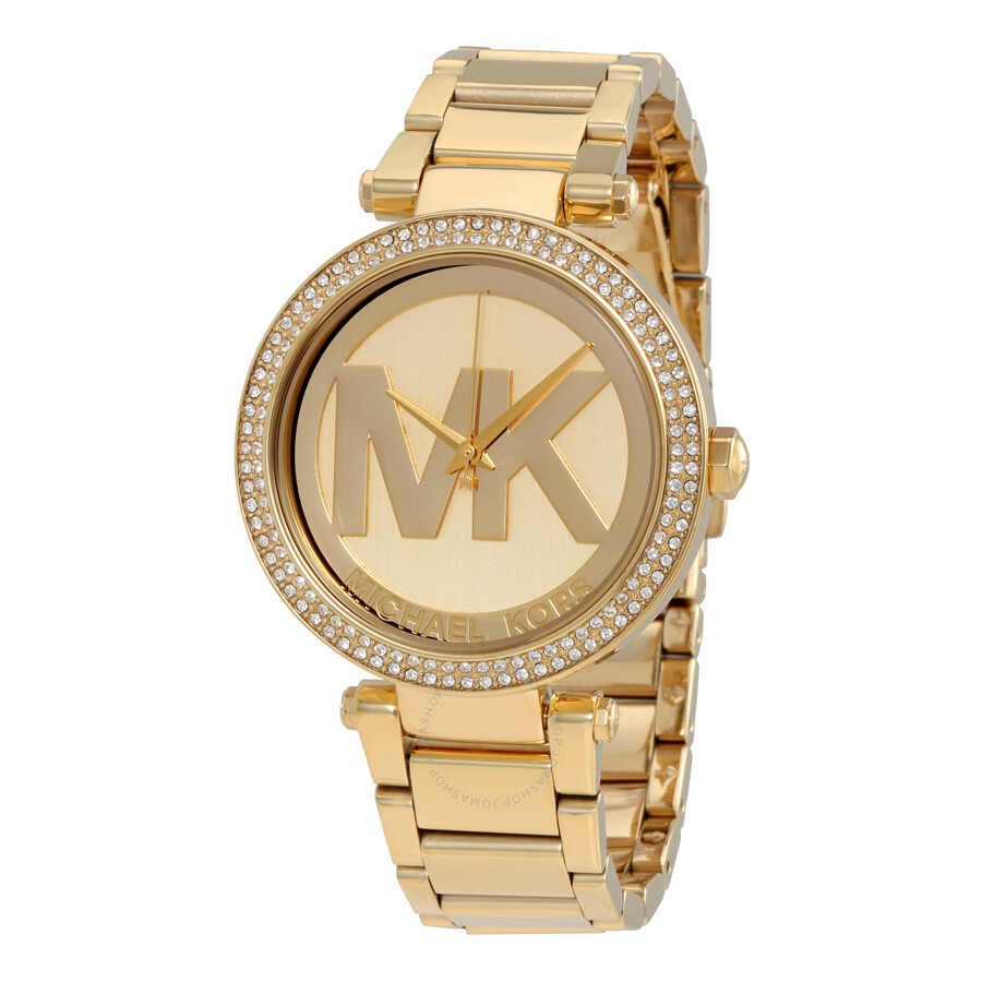 michael kors parker champagne dial gold tone watch mk5784. Black Bedroom Furniture Sets. Home Design Ideas