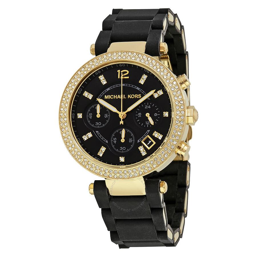 8e28761da5a5 Michael Kors Parker Chronograph Black Dial LadiesWatch MK6404 ...