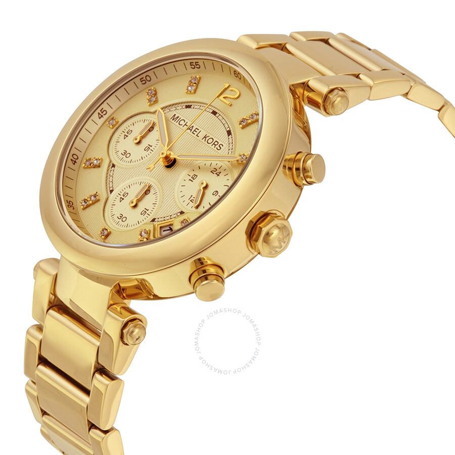 e06269a9740e7 ... Michael Kors Gold tone Dial Gold tone Stainless Steel Ladies  Chronograph Watch MK5276 ...