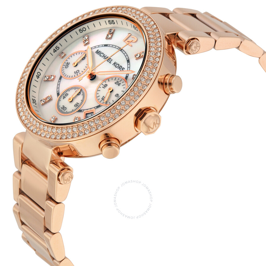 4d33157474e7 ... Michael Kors Parker Chronograph Rose Gold-tone Ladies Watch MK5491 ...