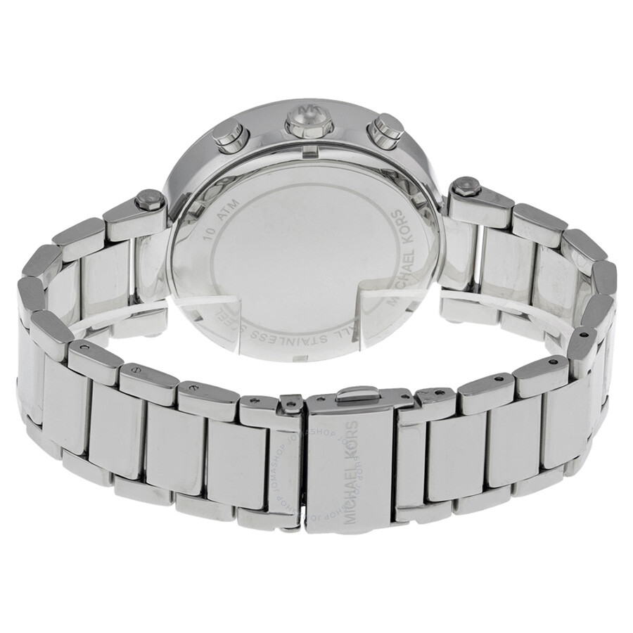 077c40ca5a1f ... Michael Kors Parker Silver Dial Stainless Steel Chronograph Ladies Watch  MK5353 ...
