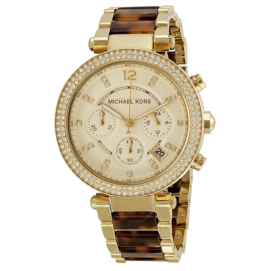 Michael Kors Parker Chronograph Tortoiseshell Ladies Watch